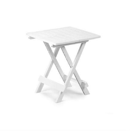 SupaGarden Plastic Folding Camping Table - White